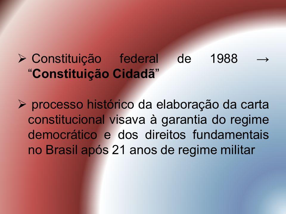 Constituição federal de 1988 → Constituição Cidadã