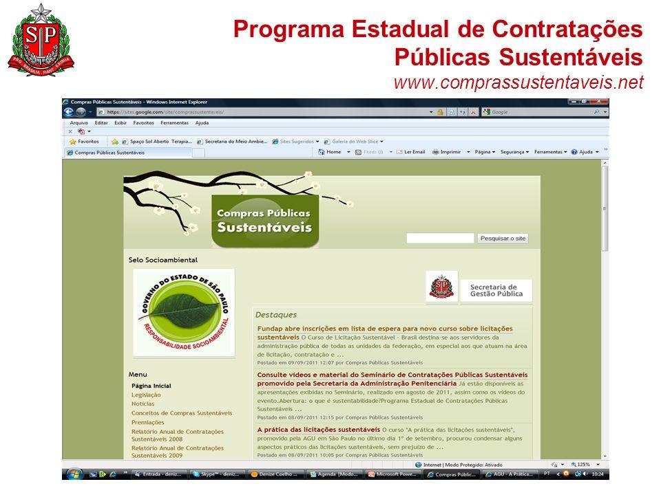 Programa Estadual de Contratações Públicas Sustentáveis www