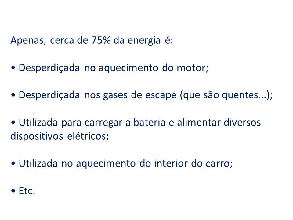 Apenas, cerca de 75% da energia é: