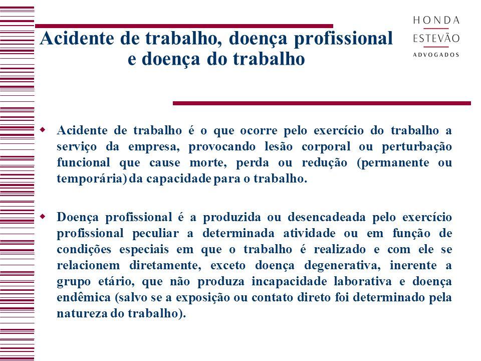 Acidente de trabalho, doença profissional e doença do trabalho