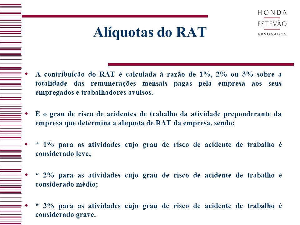 Alíquotas do RAT