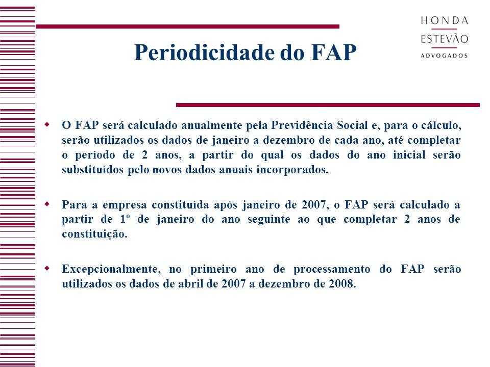 Periodicidade do FAP
