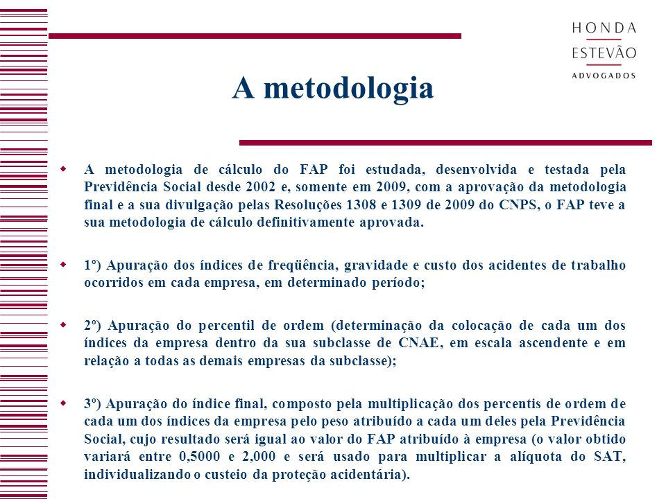 A metodologia