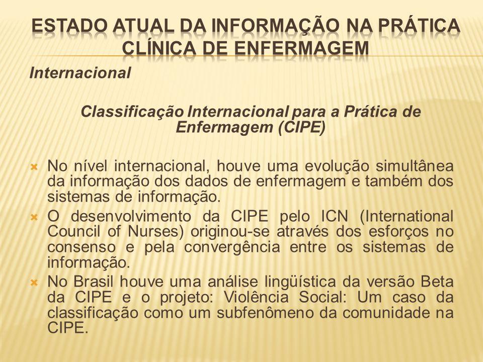 ESTADO ATUAL DA INFORMAÇÃO NA PRÁTICA CLÍNICA DE ENFERMAGEM
