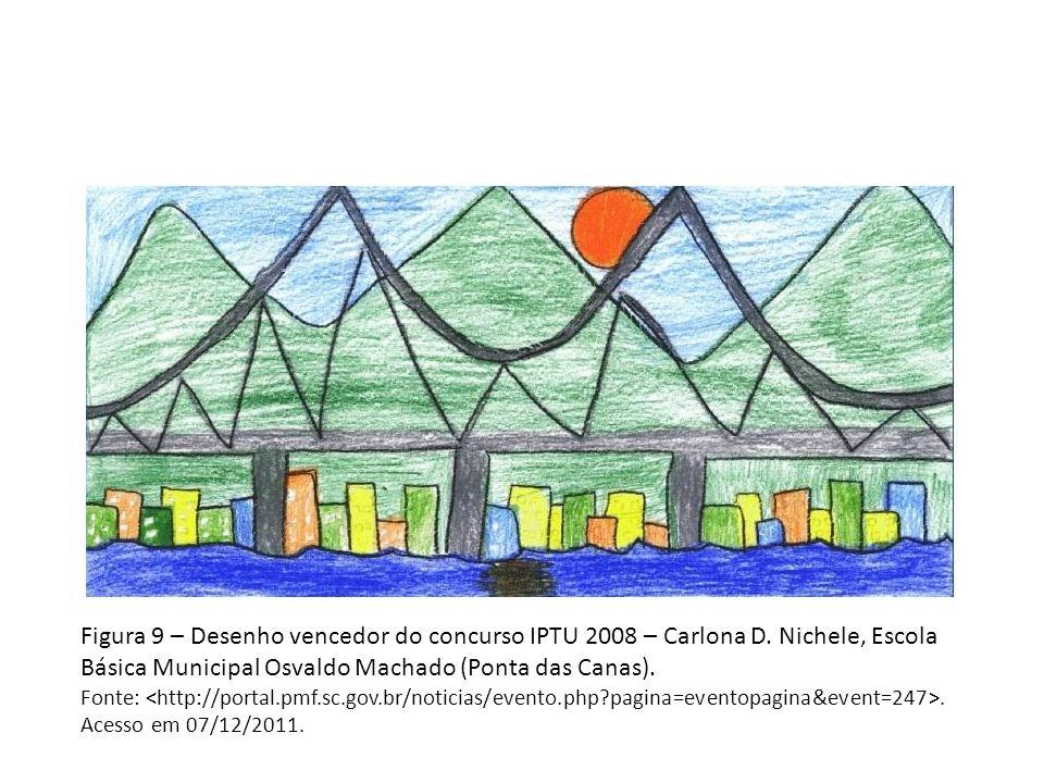 Figura 9 – Desenho vencedor do concurso IPTU 2008 – Carlona D