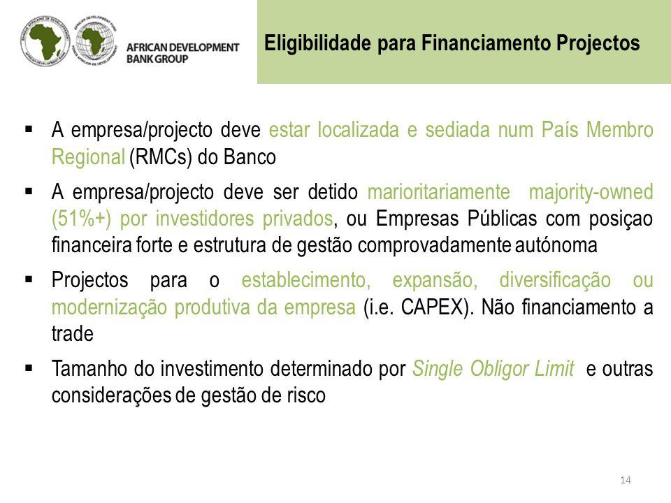 Eligibilidade para Financiamento Projectos