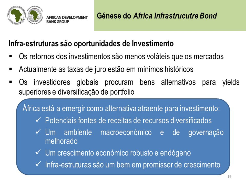 Génese do Africa Infrastrucutre Bond