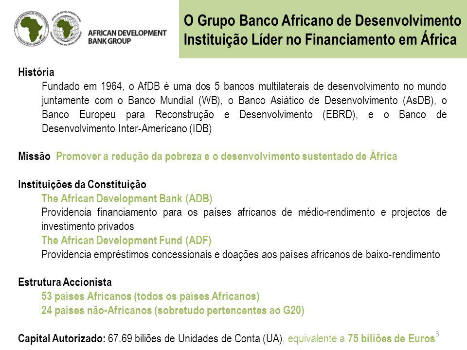 O Grupo Banco Africano de Desenvolvimento
