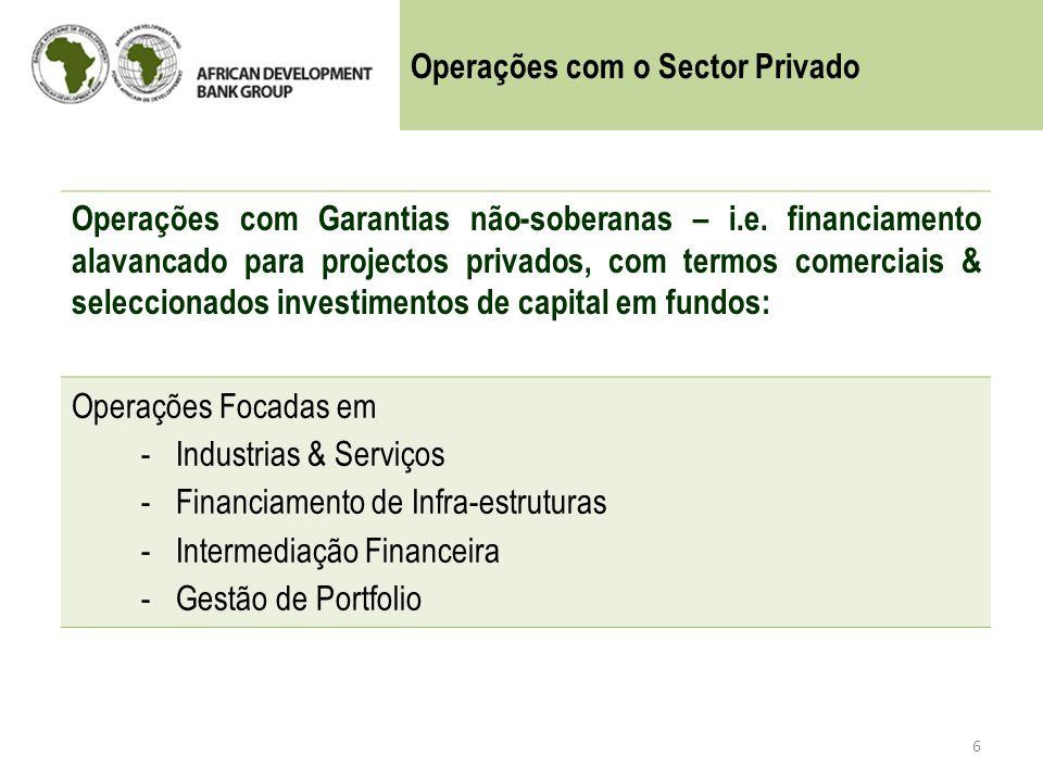 Operações com o Sector Privado