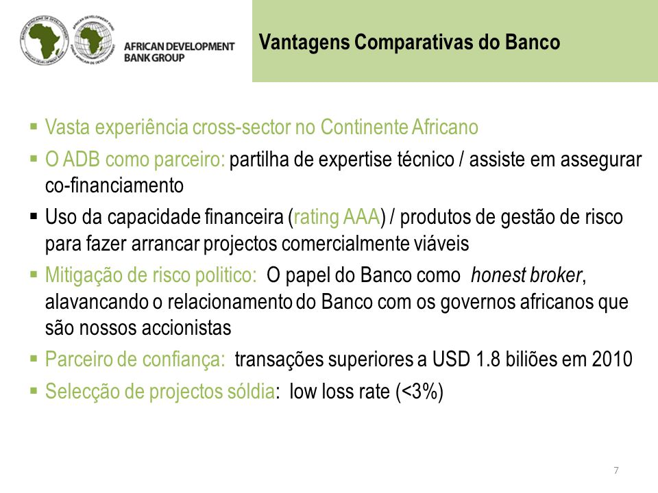 Vantagens Comparativas do Banco