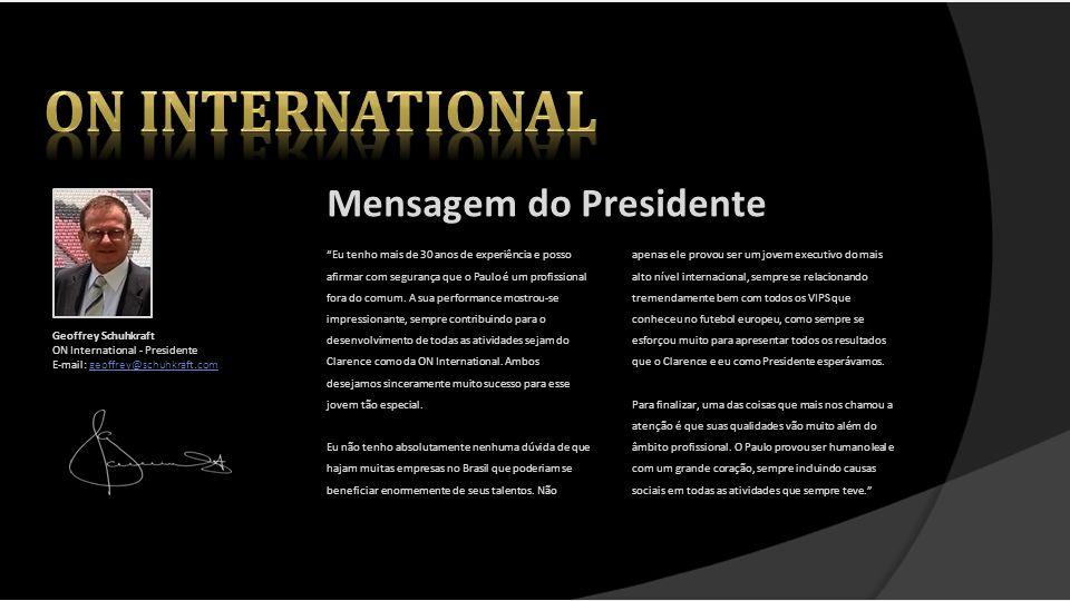 On international Mensagem do Presidente