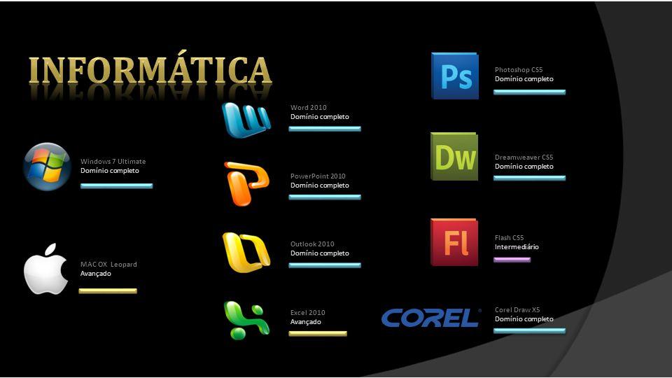 informática Photoshop CS5 Domínio completo Word 2010 Domínio completo