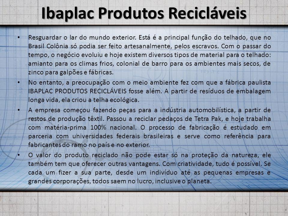 Ibaplac Produtos Recicláveis