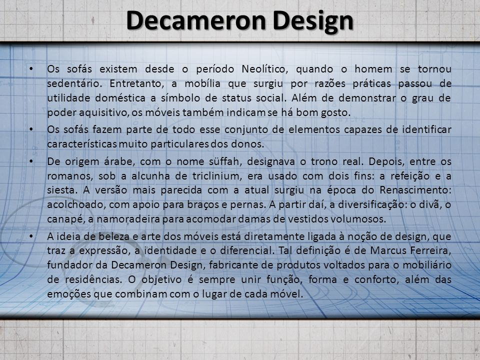 Decameron Design