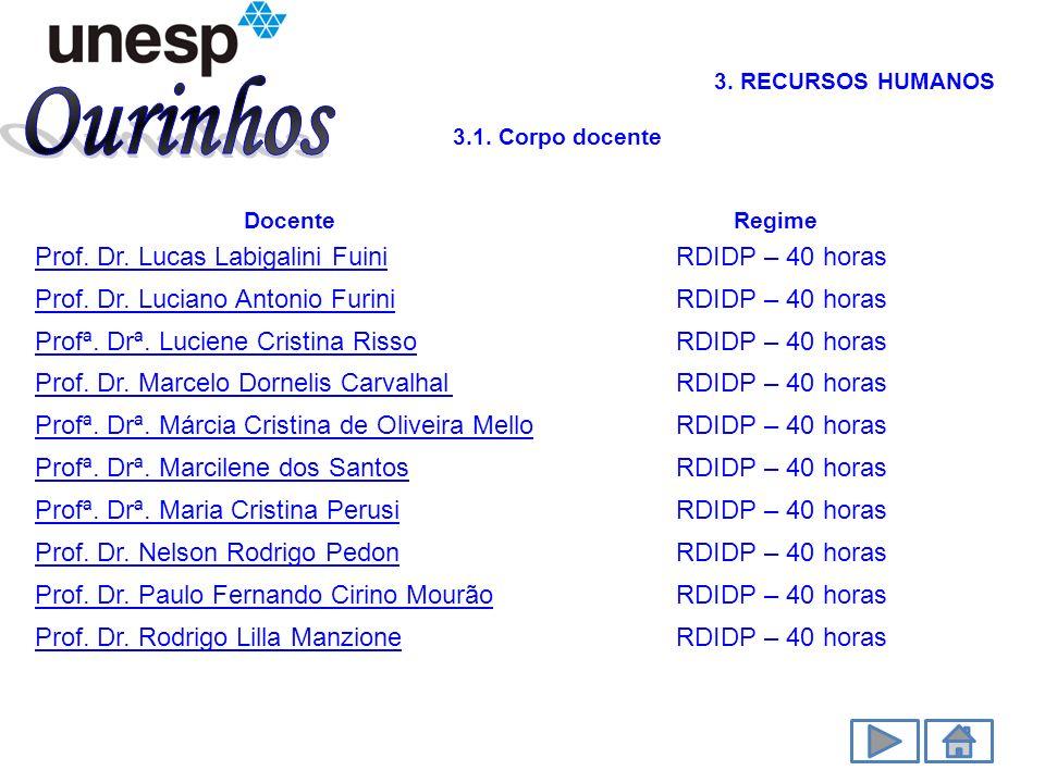 Ourinhos Prof. Dr. Lucas Labigalini Fuini RDIDP – 40 horas