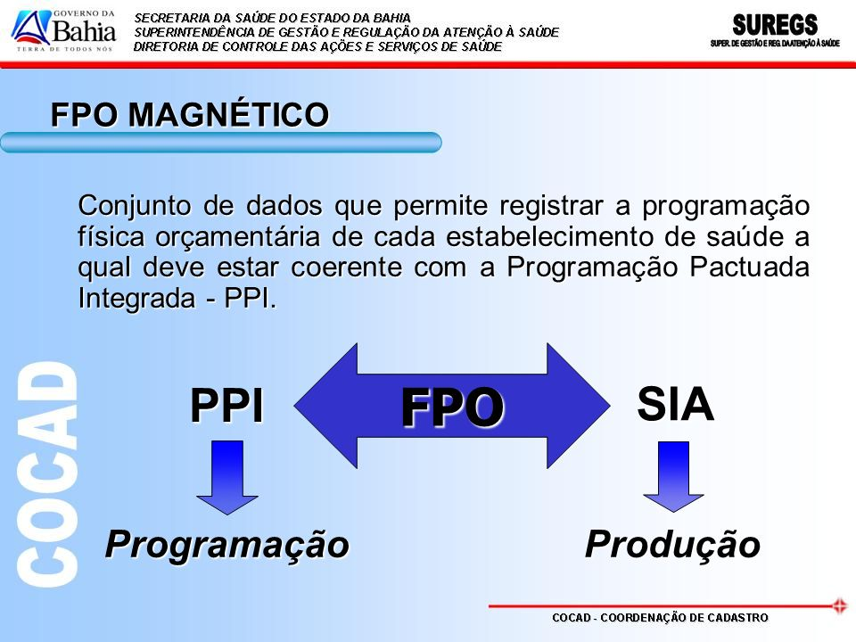 FPO PPI SIA Programação Produção FPO MAGNÉTICO