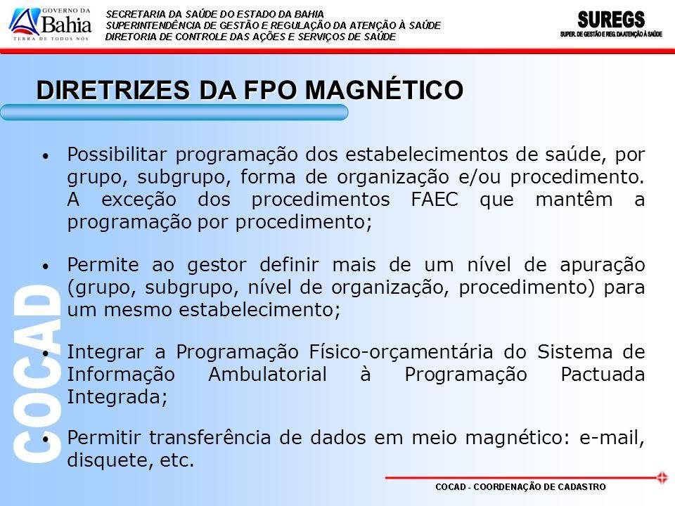 DIRETRIZES DA FPO MAGNÉTICO