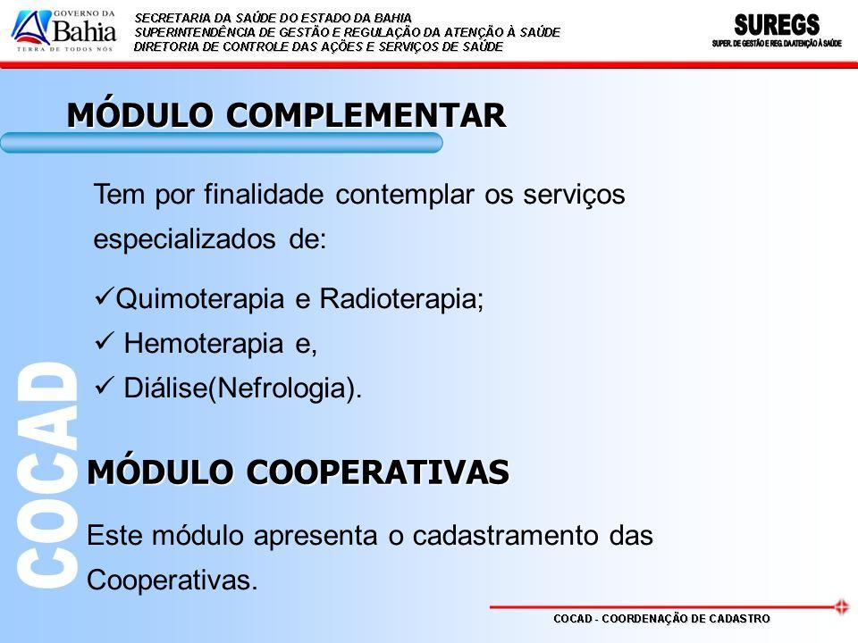 MÓDULO COMPLEMENTAR MÓDULO COOPERATIVAS