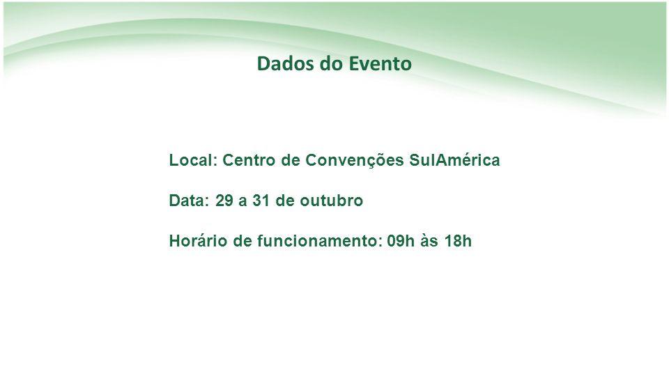 Dados do Evento Local: Centro de Convenções SulAmérica