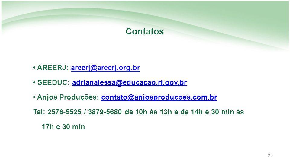 Contatos • AREERJ: areerj@areerj.org.br