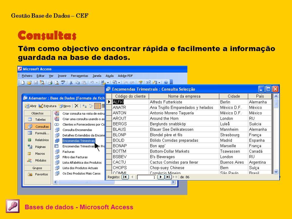 Gestão Base de Dados – CEF