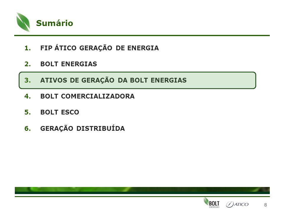 Sumário FIP ÁTICO GERAÇÃO DE ENERGIA BOLT ENERGIAS