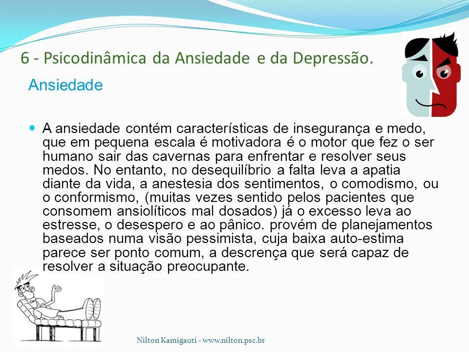 6 - Psicodinâmica da Ansiedade e da Depressão.