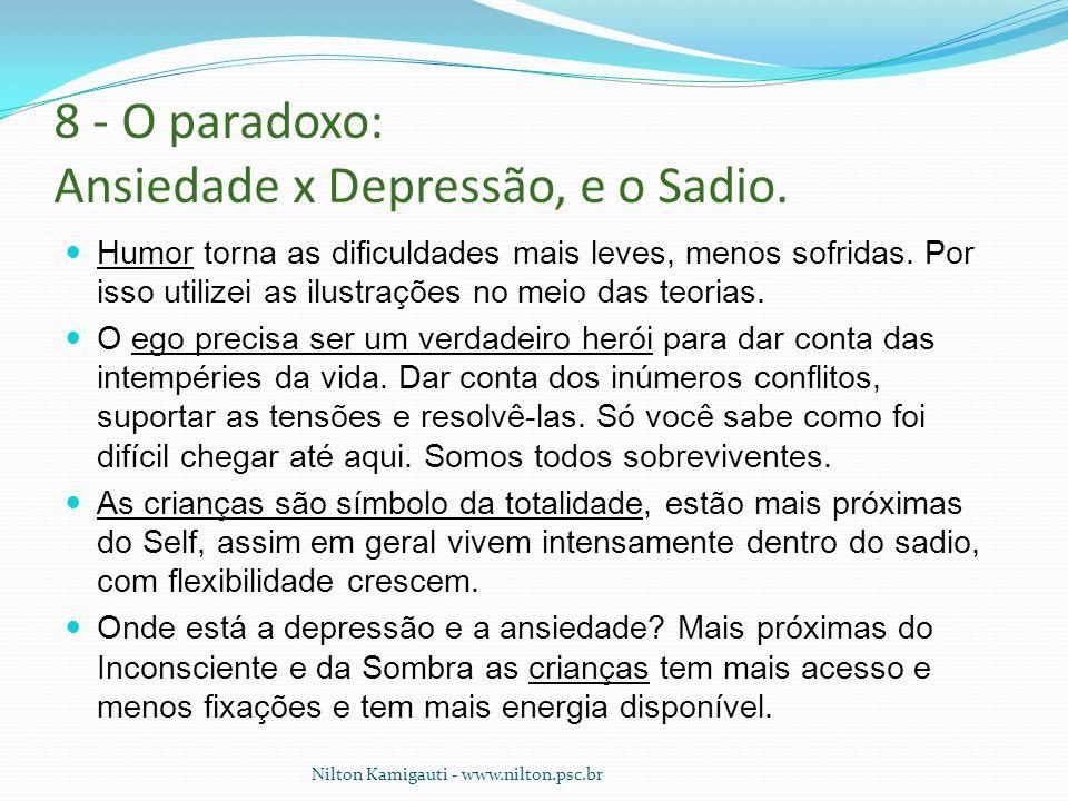 8 - O paradoxo: Ansiedade x Depressão, e o Sadio.