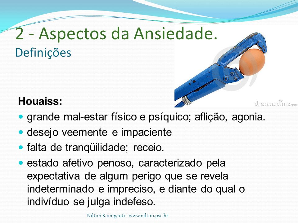 2 - Aspectos da Ansiedade. Definições