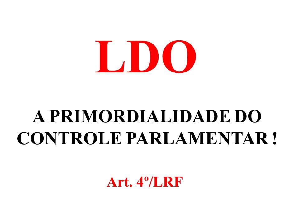 A PRIMORDIALIDADE DO CONTROLE PARLAMENTAR !