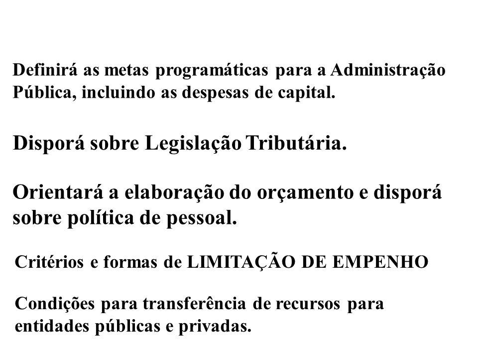 Disporá sobre Legislação Tributária.