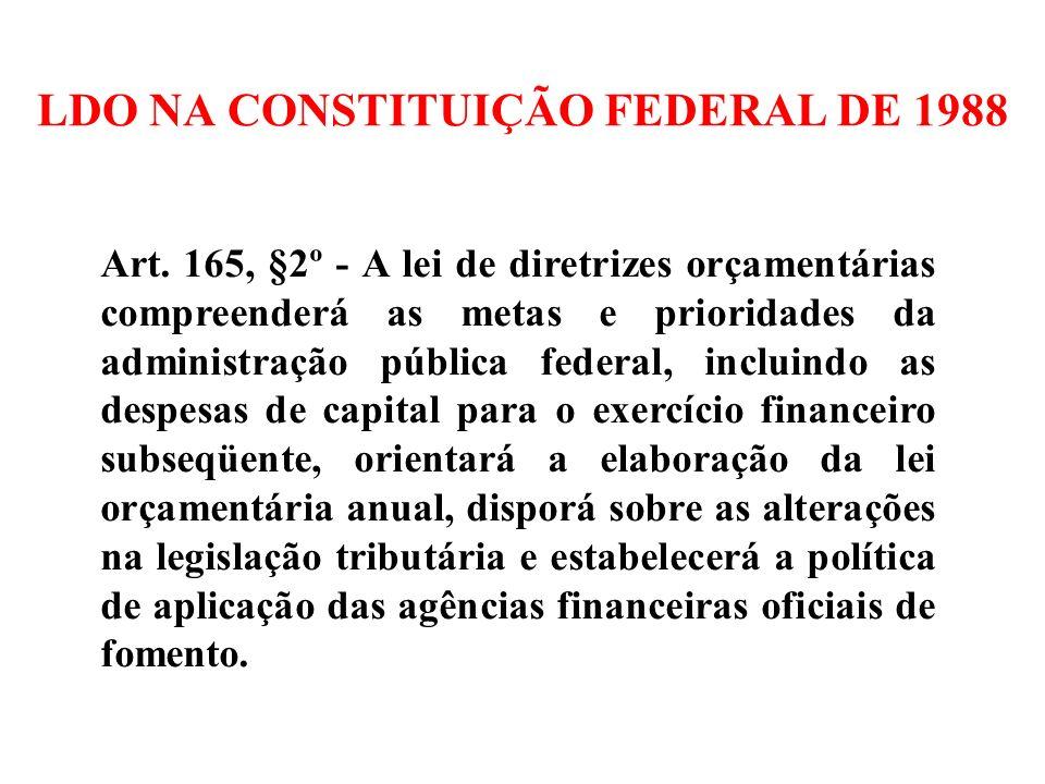 LDO NA CONSTITUIÇÃO FEDERAL DE 1988
