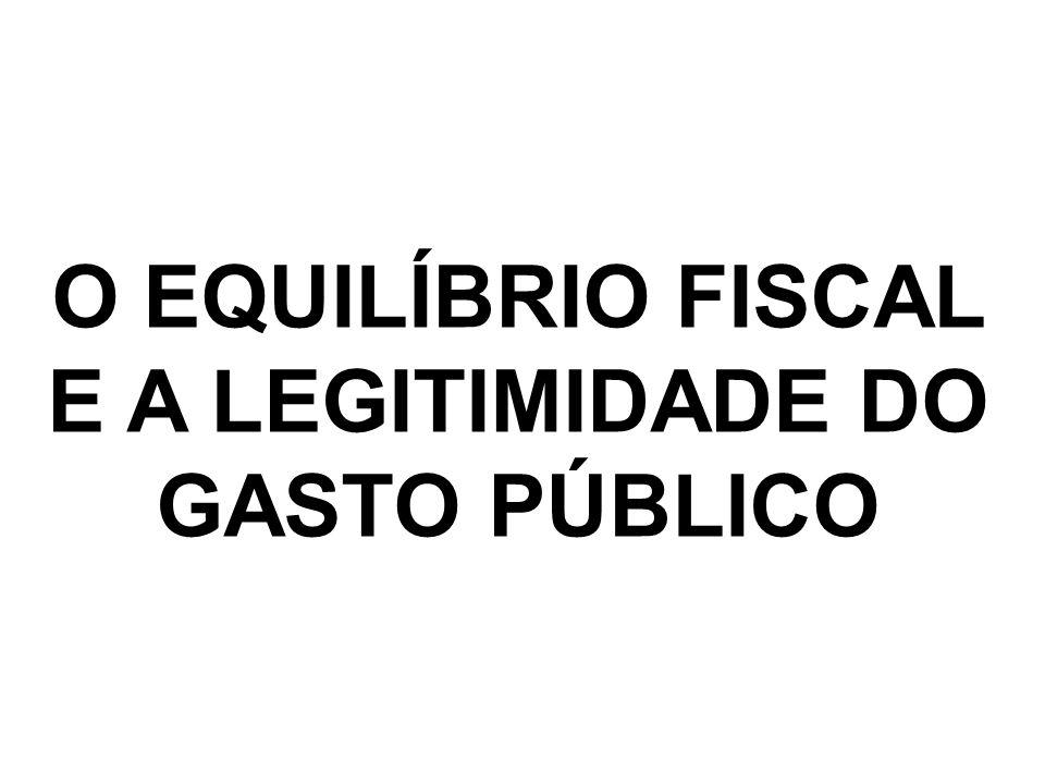O EQUILÍBRIO FISCAL E A LEGITIMIDADE DO GASTO PÚBLICO