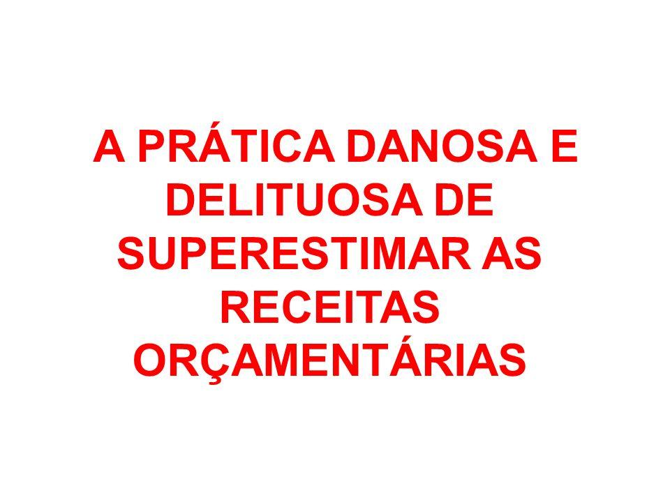 A PRÁTICA DANOSA E DELITUOSA DE SUPERESTIMAR AS RECEITAS ORÇAMENTÁRIAS