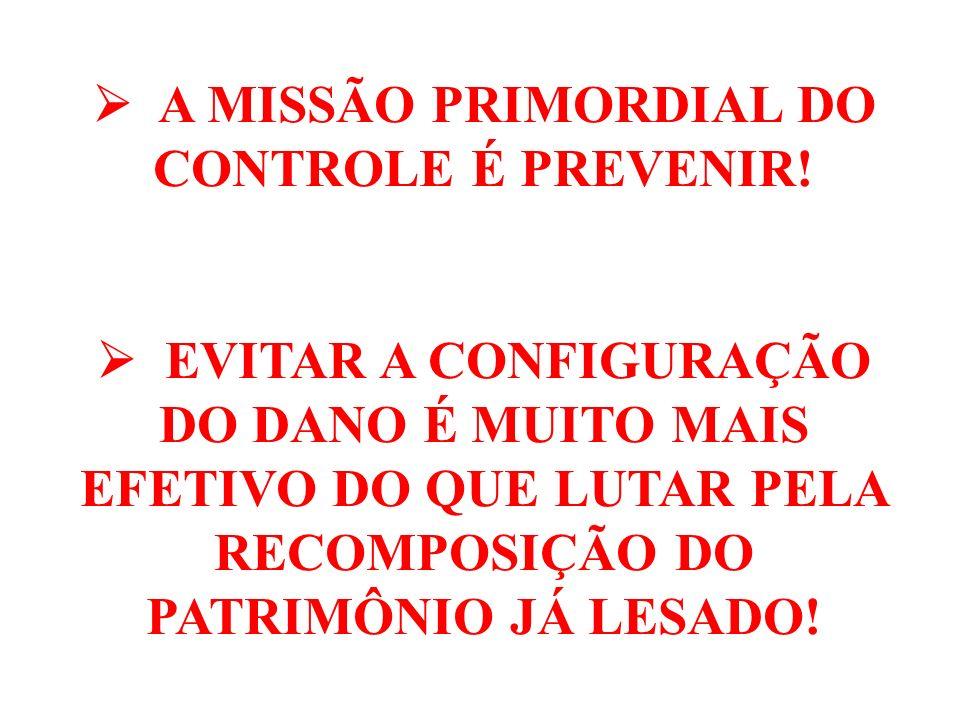  A MISSÃO PRIMORDIAL DO CONTROLE É PREVENIR!