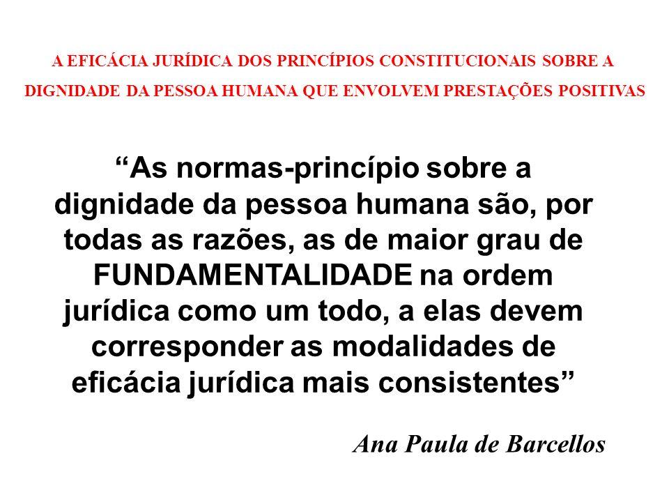 A EFICÁCIA JURÍDICA DOS PRINCÍPIOS CONSTITUCIONAIS SOBRE A