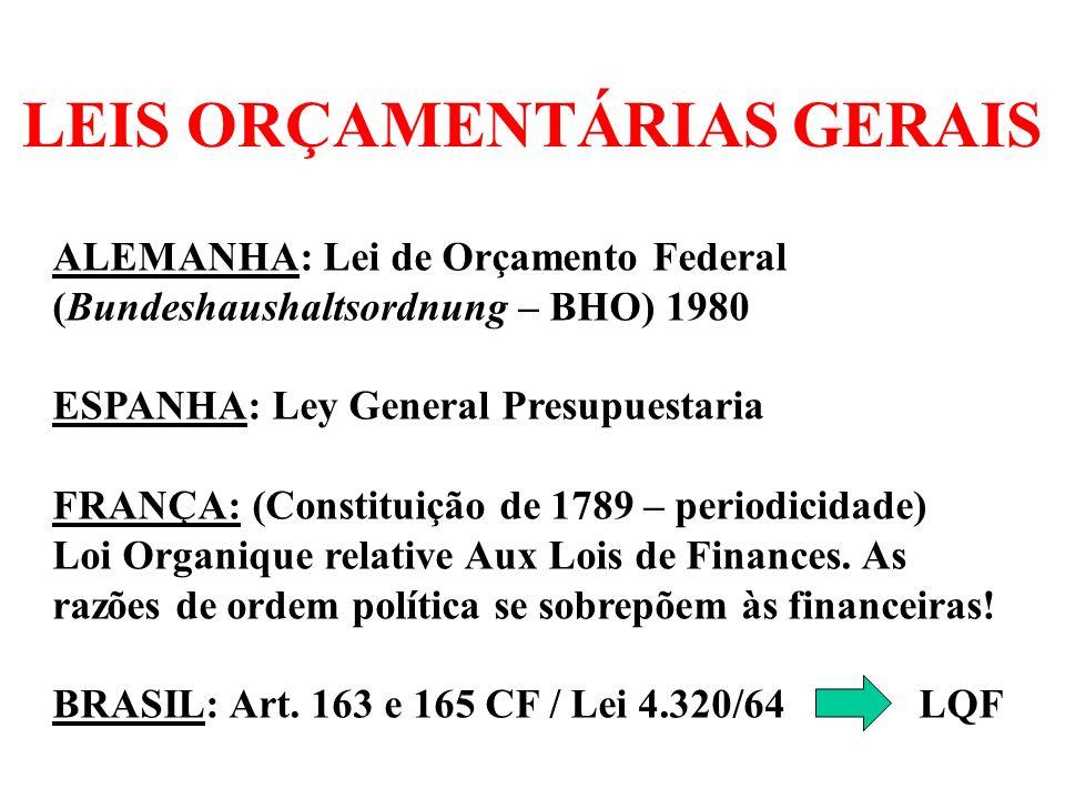 LEIS ORÇAMENTÁRIAS GERAIS
