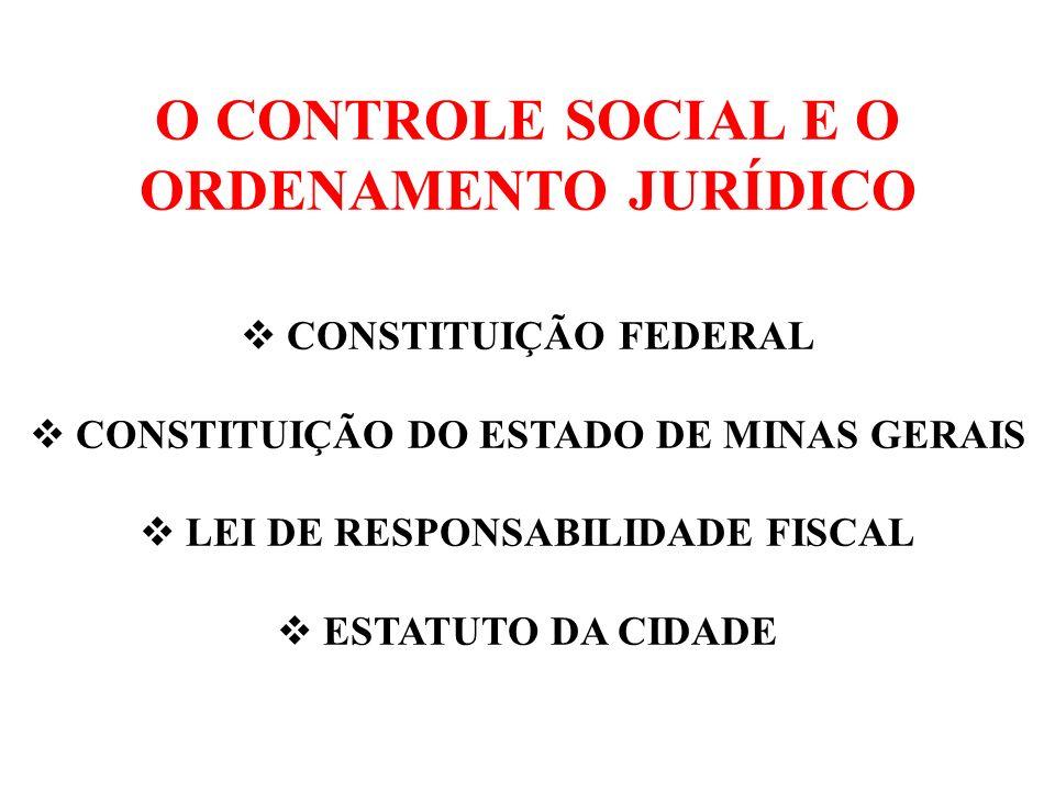 O CONTROLE SOCIAL E O ORDENAMENTO JURÍDICO