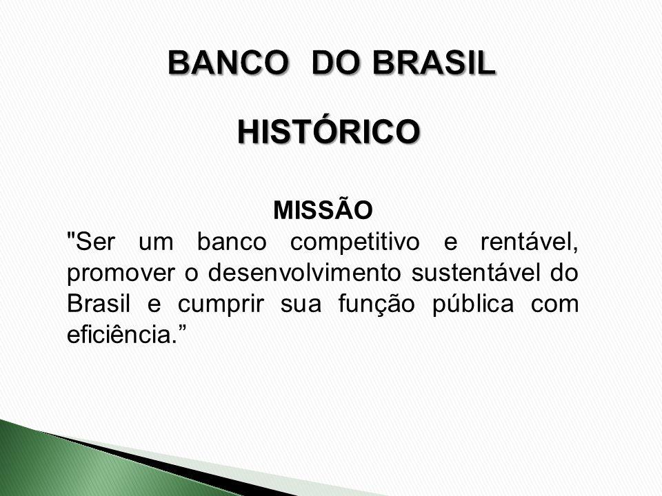 BANCO DO BRASIL HISTÓRICO MISSÃO