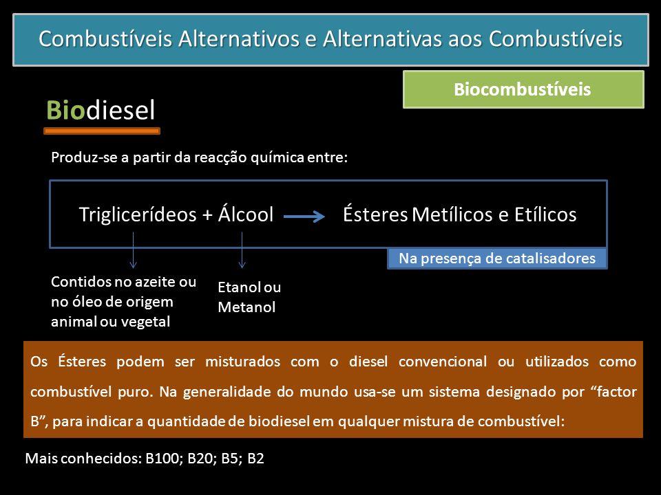 Biodiesel Combustíveis Alternativos e Alternativas aos Combustíveis
