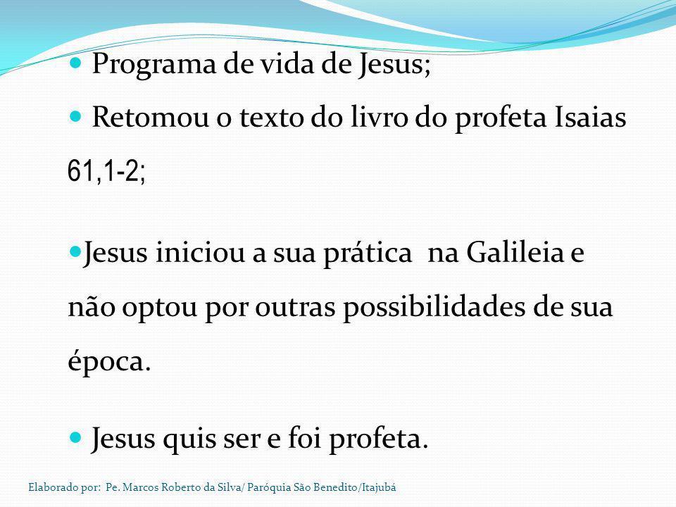 Programa de vida de Jesus;
