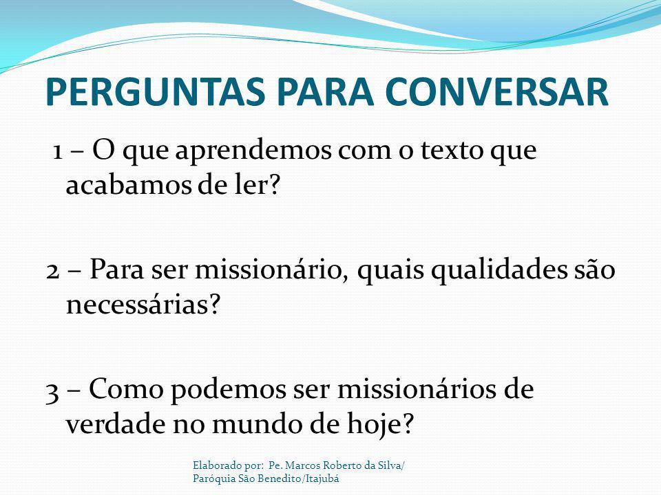 PERGUNTAS PARA CONVERSAR
