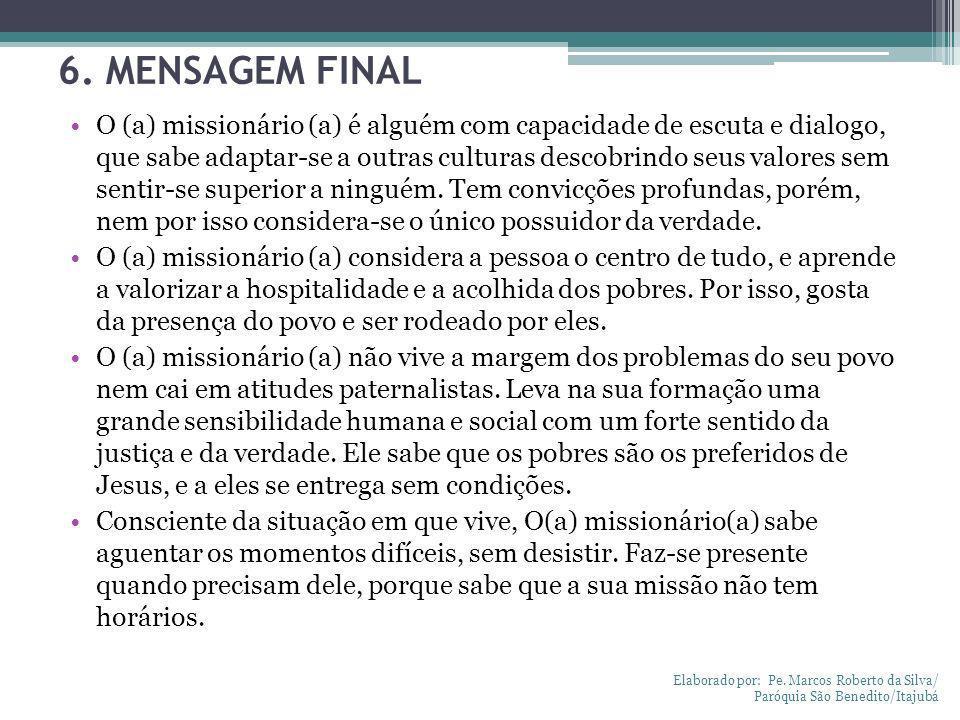 6. MENSAGEM FINAL