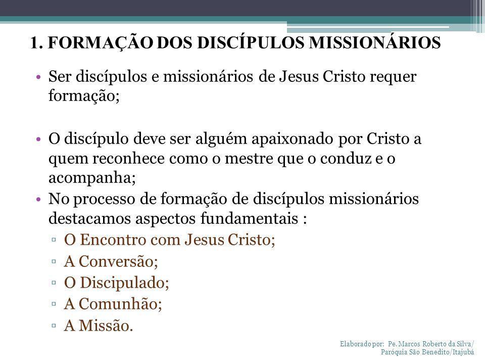 1. FORMAÇÃO DOS DISCÍPULOS MISSIONÁRIOS
