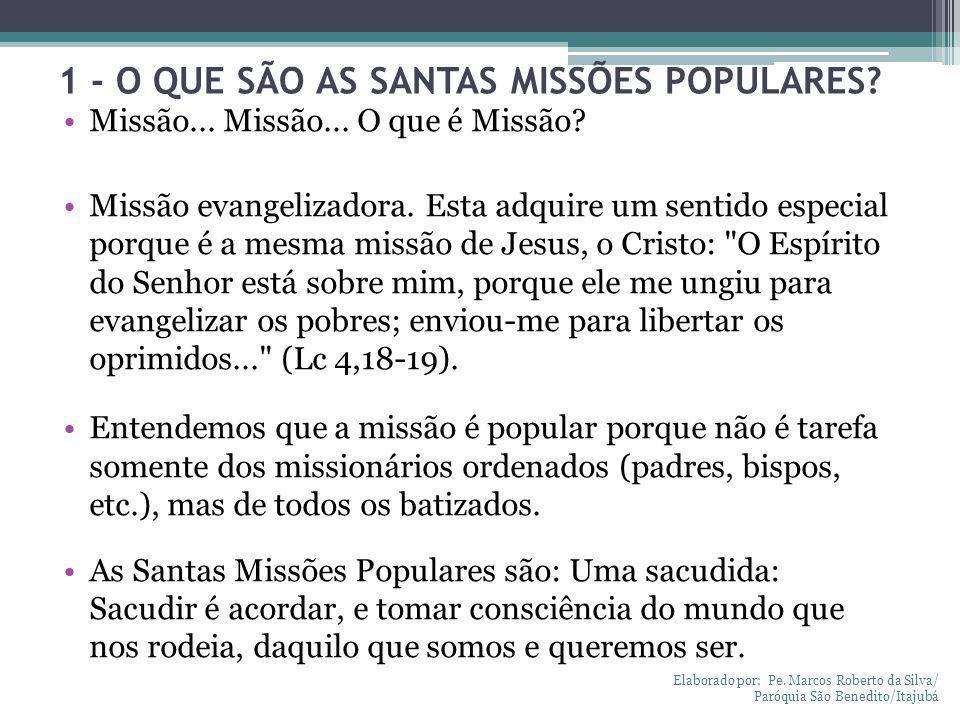 1 - O QUE SÃO AS SANTAS MISSÕES POPULARES