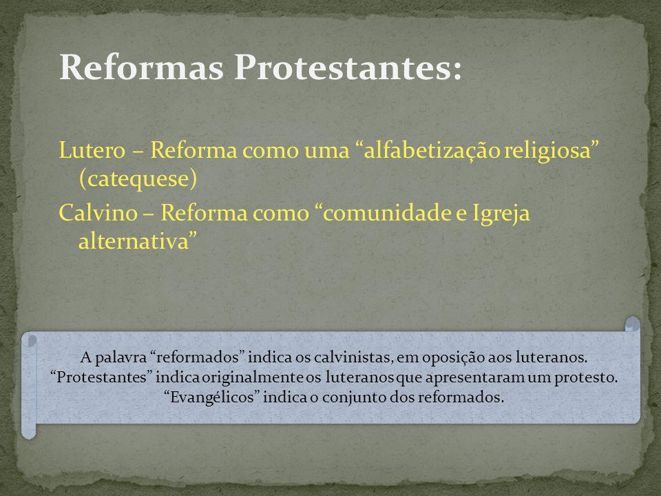 Reformas Protestantes: