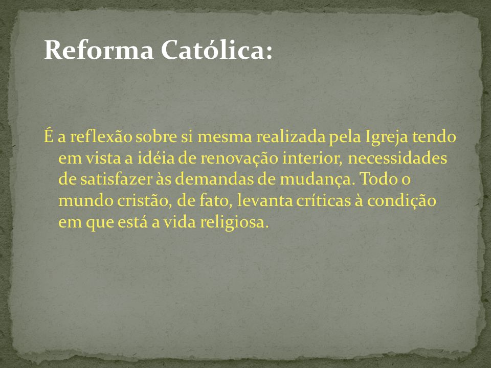 Reforma Católica: