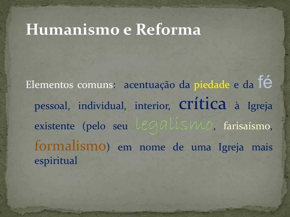 Humanismo e Reforma
