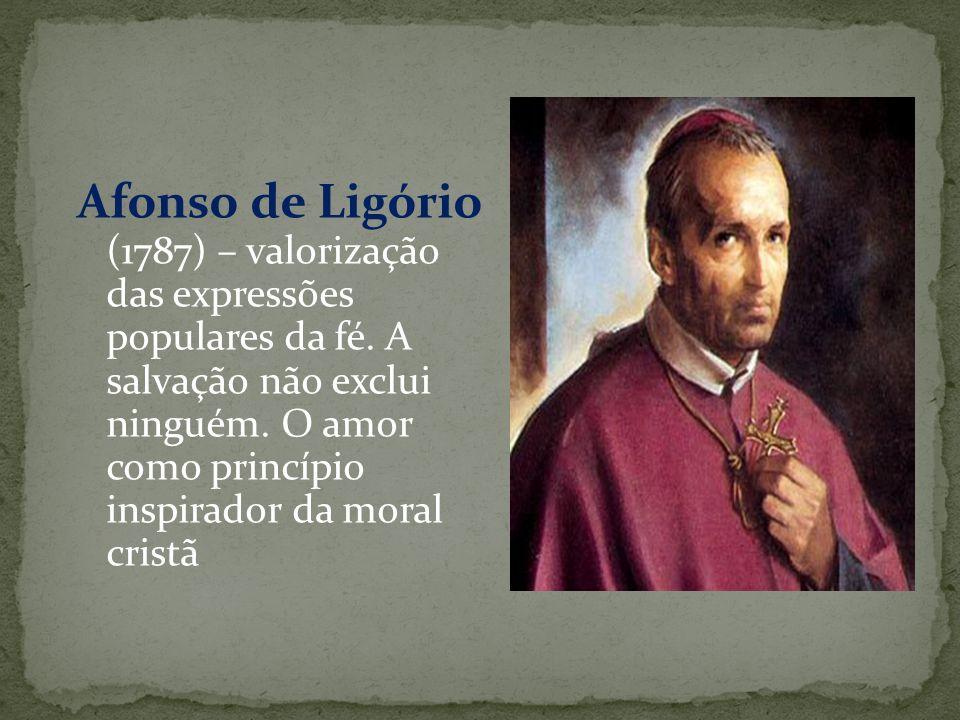 Afonso de Ligório (1787) – valorização das expressões populares da fé