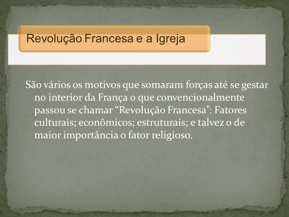 Revolução Francesa e a Igreja
